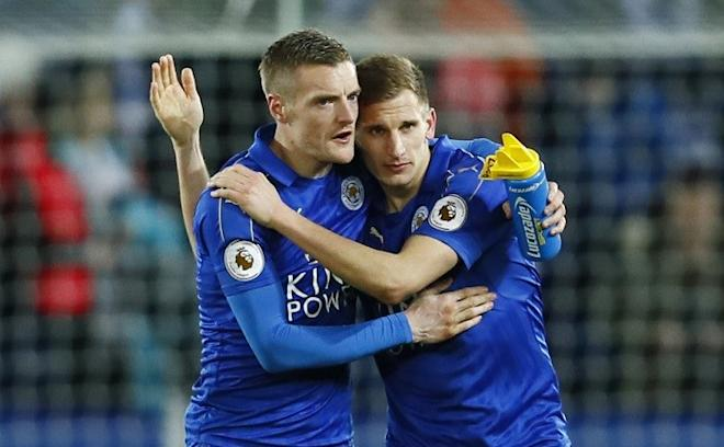 Jamie Vardy, Marc Albrighton, Leicester City, Hull City, English Premier League