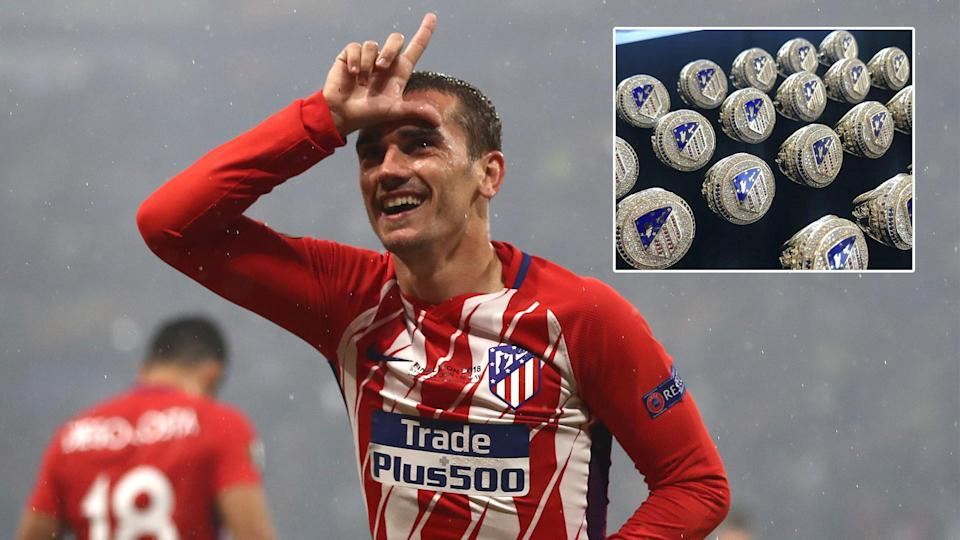 Antoine Griezmann has treated his Atletico team-mates to special rings after their Super Cup victory