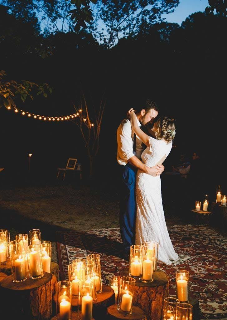 The bride and groom had their first dance on a friend's rug (Danielle Riley Photography)