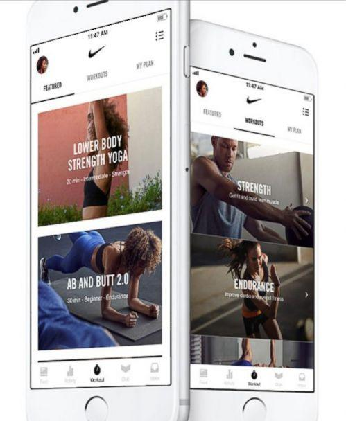 PHOTO: Nike Training Club features audio and video clips featuring Nike Trainers (Nike Inc.)