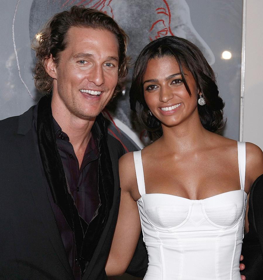 "<a href=""http://movies.yahoo.com/movie/contributor/1800018907"">Matthew McConaughey</a> and Camilla Alves at the Dolce & Gabbana ""The One"" Fragrance Launch - 12/0/2007"