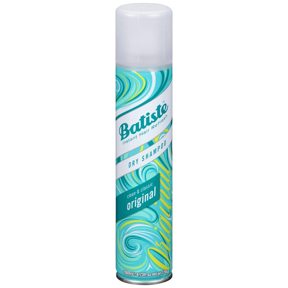 """<p><strong>Batiste</strong></p><p>walmart.com</p><p><strong>$6.48</strong></p><p><a href=""""https://go.redirectingat.com?id=74968X1596630&url=https%3A%2F%2Fwww.walmart.com%2Fip%2F34329092&sref=https%3A%2F%2Fwww.thepioneerwoman.com%2Fbeauty%2Fhair%2Fg36801161%2Fbest-dry-shampoos-for-oily-hair%2F"""" rel=""""nofollow noopener"""" target=""""_blank"""" data-ylk=""""slk:Shop Now"""" class=""""link rapid-noclick-resp"""">Shop Now</a></p><p>This award-winning (and affordable) dry shampoo comes in an impressive variety of scents and shades and is just about as reliable as it gets. A dose of this classic is all you need for a root perk-up on the fly.</p>"""
