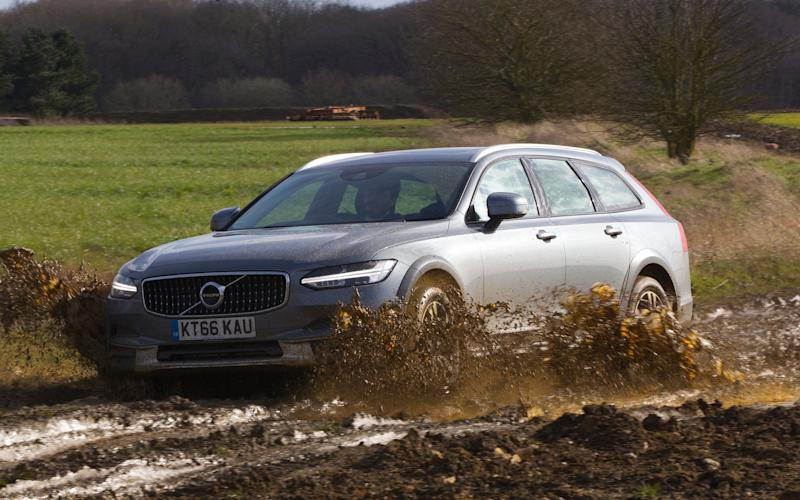The Volvo V90 Cross Country is remarkably good off-road, even if it is only a jacked-up estate with 4x4 rather than a true mud-plugger - Jeff Gilbert