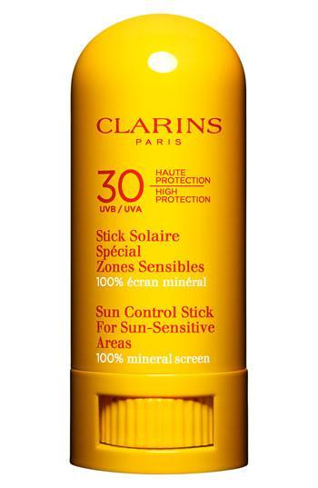 This wonderous stick is 100% natural and moisturizing when applied to your lips — and also to nose, ears, and other tricky spots prone to sunburns. It's the perfect thing to stash in your bag on summer days. Clarins Sunscreen Stick For Sun-Sensitive Areas SPF 30 High Protection UVB/UVA ($28)