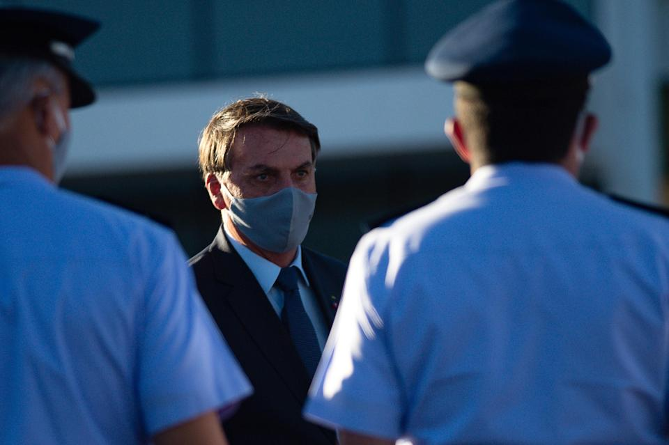 "<div class=""caption""> President of Brazil, Jair Bolsonaro, in Brasilia, June 23, 2020. </div> <cite class=""credit"">Andressa Anholete / Getty Images</cite>"