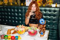 <p>Bella Thorne gets a sugar rush on Thursday ahead of her DJ set at Sugar Factory American Brasserie in Miami.</p>
