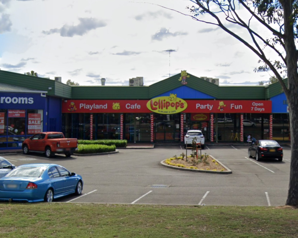 Lollipop's Playland and Cafe in Penrith where a two-year-old girl was allegedly sexually assaulted. Source: Google Maps, file