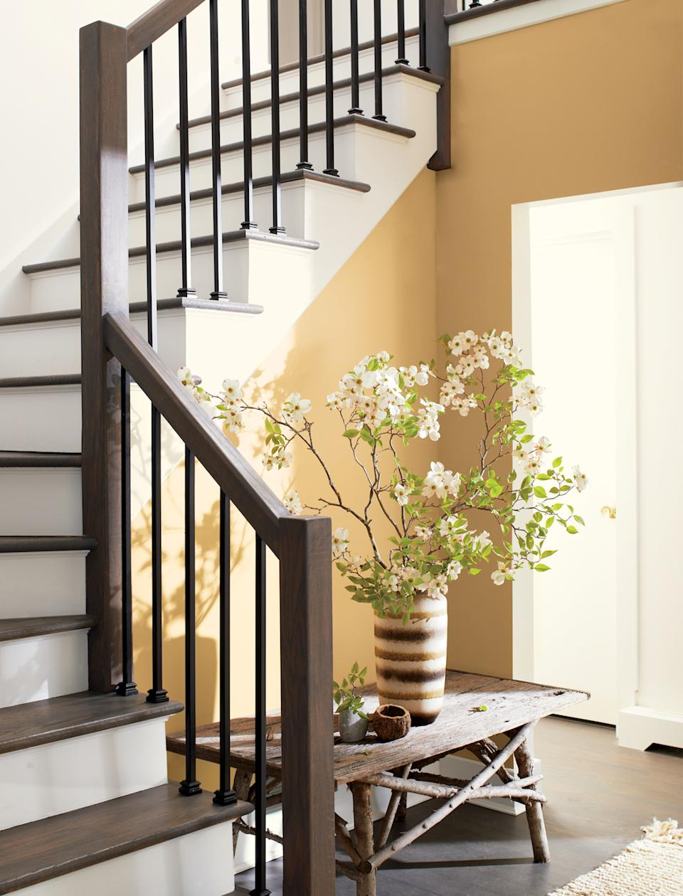 staircase ideas: wooden staircase banister