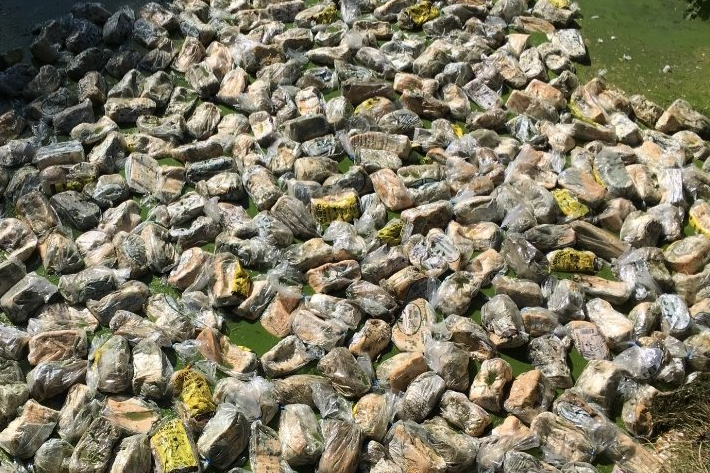 More than 300 loaves of mouldy bread were discovered dumped in the lake: Twitter / @ThamesmeadNow
