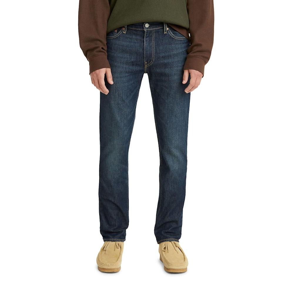 """<p><strong>Levi's</strong></p><p>nordstrom.com</p><p><a href=""""https://go.redirectingat.com?id=74968X1596630&url=https%3A%2F%2Fwww.nordstrom.com%2Fs%2Flevis-511-flex-slim-fit-jeans-evening-night-cool%2F5911614&sref=https%3A%2F%2Fwww.esquire.com%2Fstyle%2Fmens-fashion%2Fg37002225%2Fnordstrom-anniversary-sale-mens-fashion-deals-2021%2F"""" rel=""""nofollow noopener"""" target=""""_blank"""" data-ylk=""""slk:Shop Now"""" class=""""link rapid-noclick-resp"""">Shop Now</a></p><p><strong>Sale: $59.90</strong></p><p><strong>After Sale: $98.00</strong></p><p>Pants with actual waistbands are back! </p>"""
