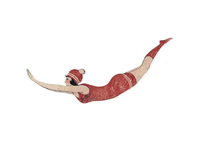 Jantzen's Red Diving Girl logo. (Photo: Jantzen Knitting Mills/Oregon History Project)