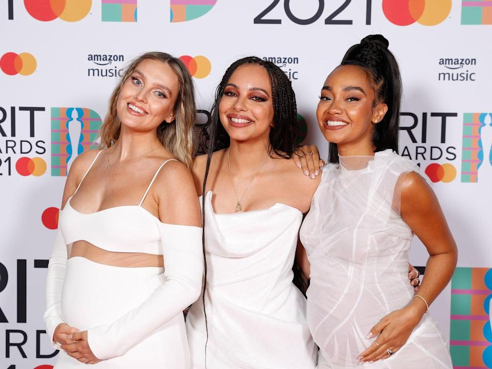 Little Mix, as pictured at the 2021 Brit Awards (EPA/John Marshall)