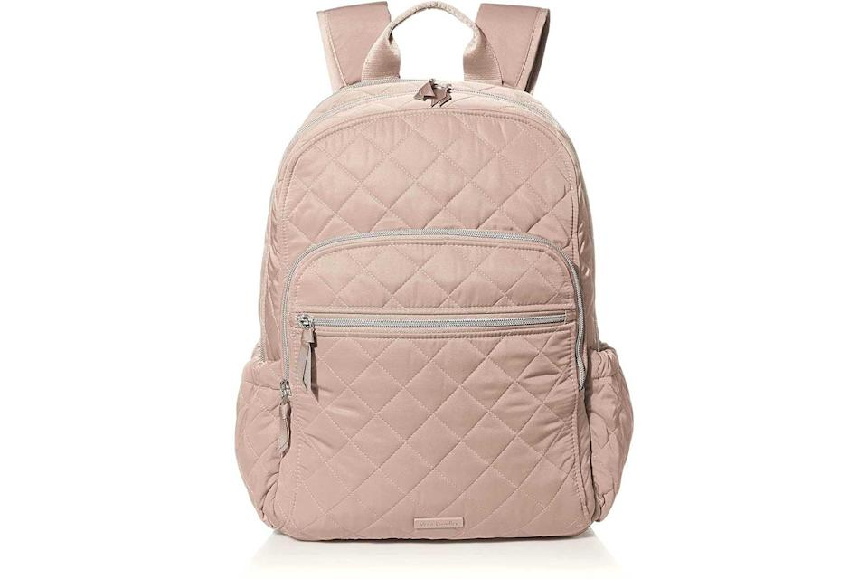 Vera Bradley Performance Twill Campus laptop backpack in pink