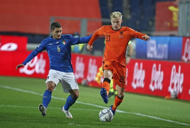 Donny van de Beek is a key player for Holland