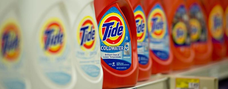 Tide bottles from P&G (Daniel Acker/Bloomberg)