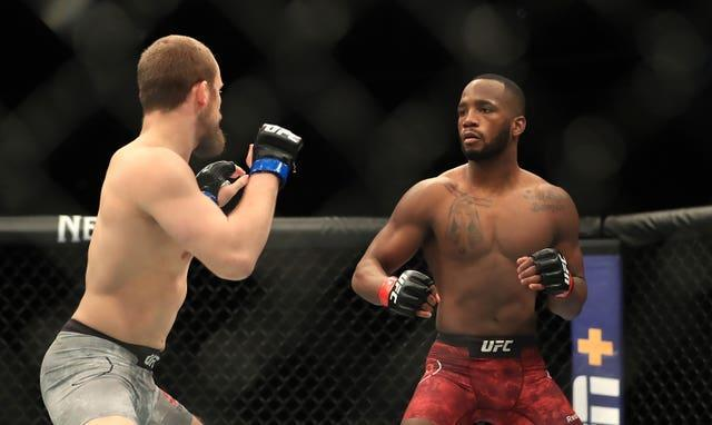 Leon Edwards, right, is third in the UFC welterweight rankings (Simon Cooper/PA)