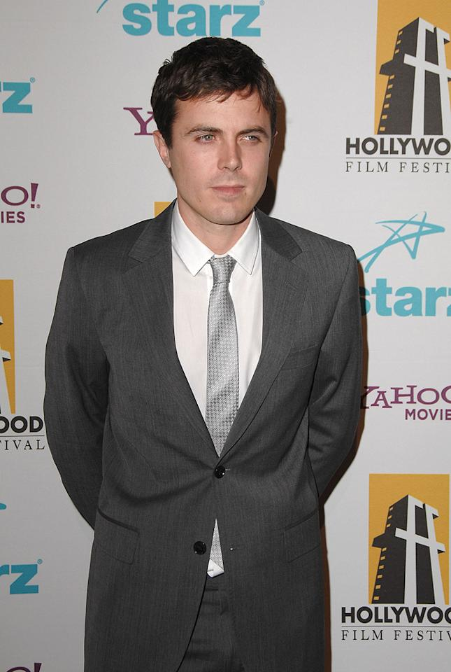 "<a href=""http://movies.yahoo.com/movie/contributor/1800018566"">Casey Affleck</a> at the Hollywood Film Festival's Hollywood Awards in Beverly Hills - 10/22/2007"