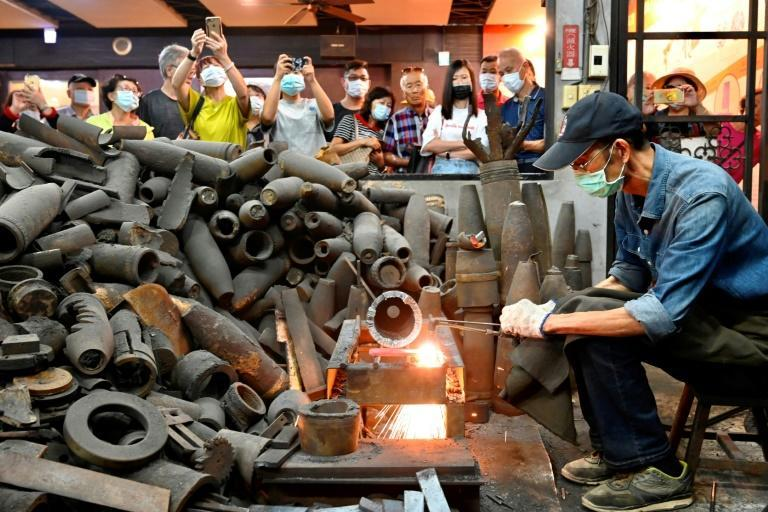 Taiwanese blacksmith Wu Tseng-dong lives on Kinmen island, just two miles from Mainland China, and forges kitchen knives from artillery shells once fired at his home