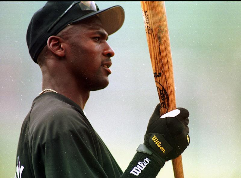 Michael Jordan spent 1994 playing minor league baseball. (AP Photo/Dave Martin)