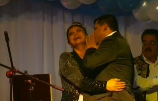 Neni and Gargi share a moment at their all-out party in 2006. Photo: 7news