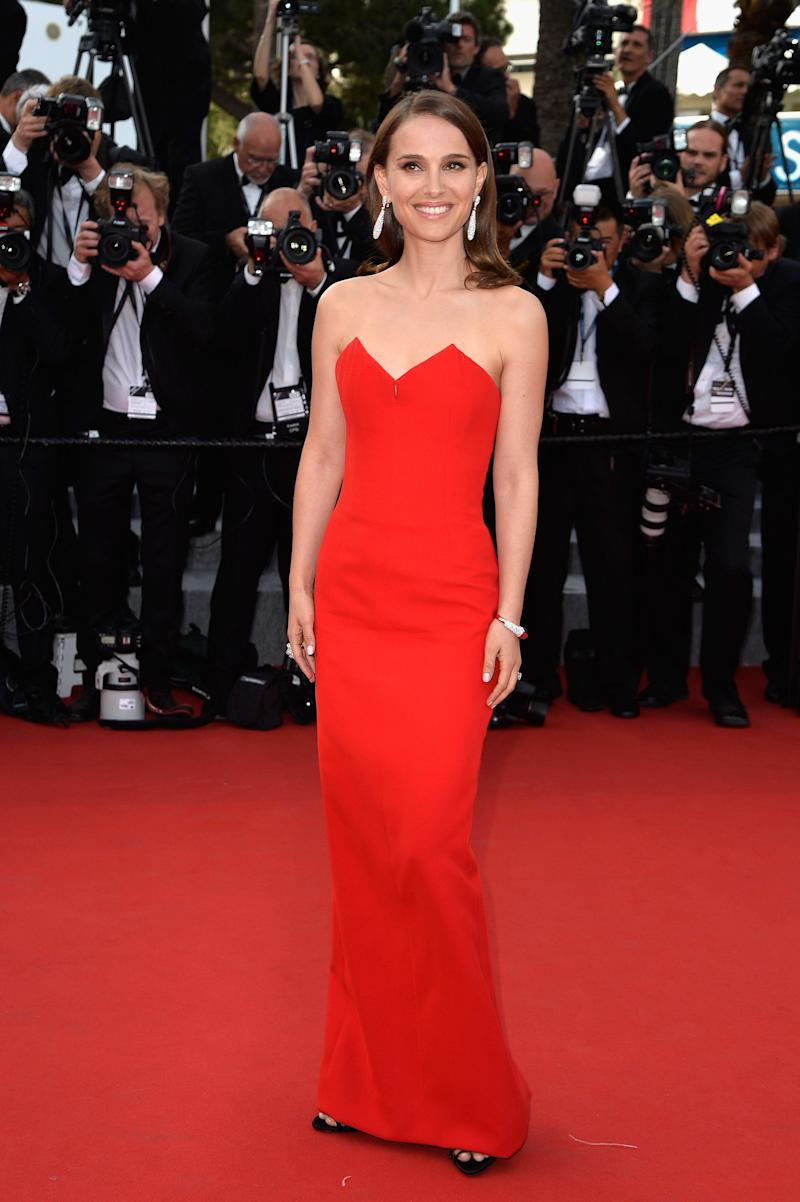 """Wearing a Dior Haute Couture gown at the opening ceremony and premiere of """"La Tete Haute"""" (""""Standing Tall"""") during the 68th annual Cannes Film Festival on May 13, 2015, in Cannes, France."""