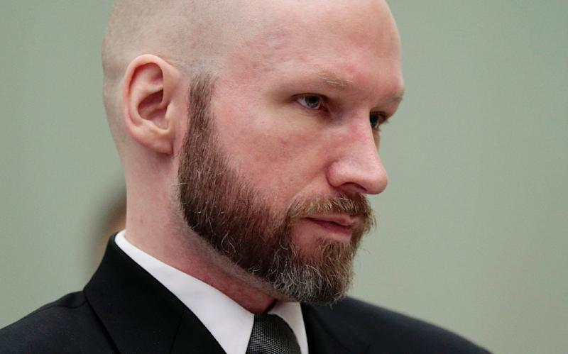 The Australian attacker in New Zealand cited Norwegian far-right extremist killer Anders Behring Breivik, picture here at his trial, as an influence (AFP Photo/Lise AASERUD)