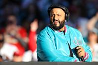 DJ Khaled looks on before Super Bowl LIV at Hard Rock Stadium on February 02, 2020 in Miami, Florida. (Photo by Kevin C. Cox/Getty Images)
