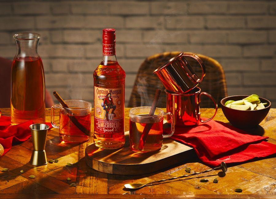 """<p>Pour 25ml of<a href=""""https://www.amazon.co.uk/Captain-Morgan-Gingerbread-Spiced-Limited/dp/B0813YS12Q"""" rel=""""nofollow noopener"""" target=""""_blank"""" data-ylk=""""slk:Captain Morgan Gingerbread Spiced"""" class=""""link rapid-noclick-resp""""> Captain Morgan Gingerbread Spiced </a>over ice and finish with 100ml apple juice – use warmed juice for extra Christmassy feels.</p>"""