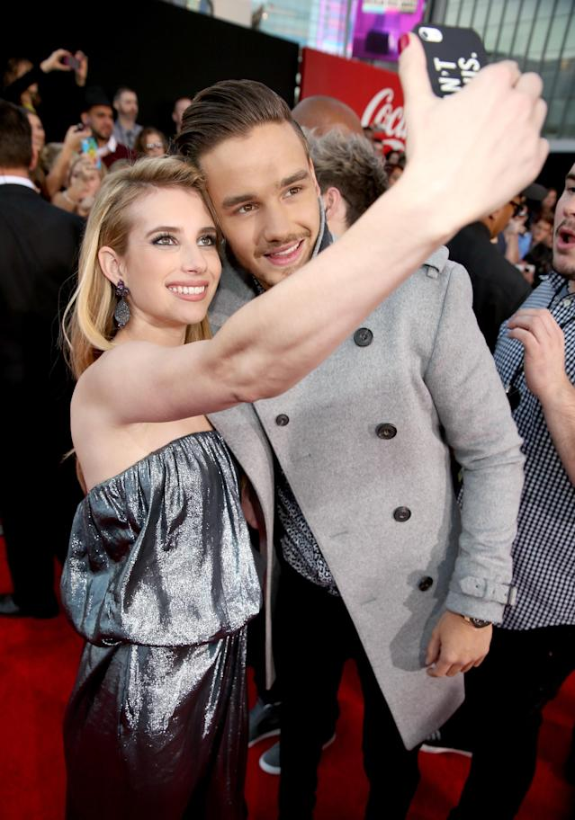 Actress Emma Roberts and singer Liam Payne have two of the most popular names that people chose for their babies in 2017. (Photo: Christopher Polk/AMA2013/Getty Images for DCP)