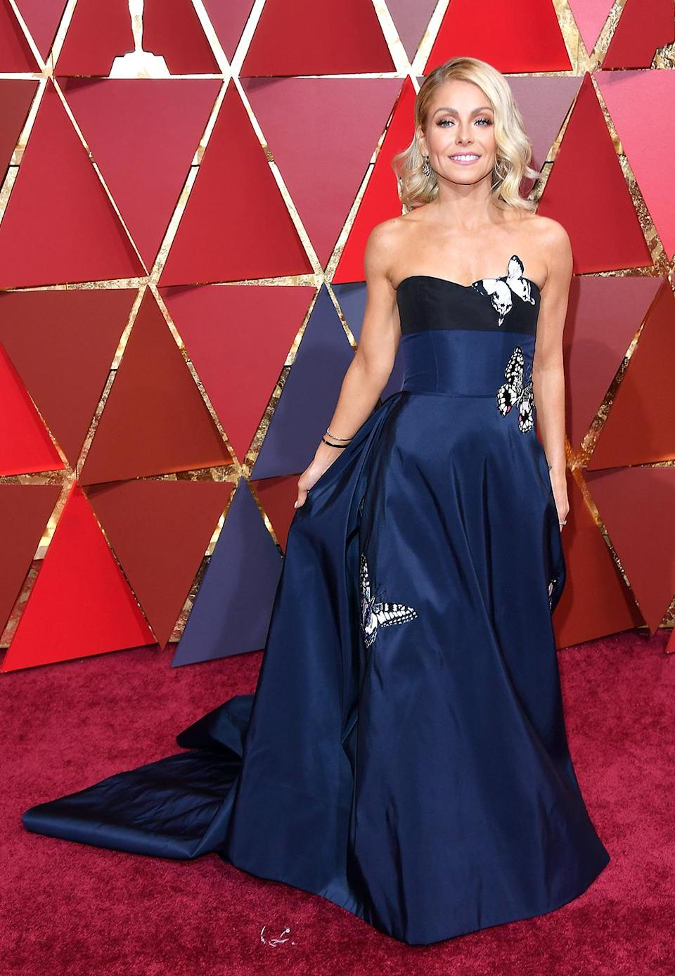 <p>TV Personality Kelly Ripa attends the 89th Annual Academy Awards at Hollywood & Highland Center on February 26, 2017 in Hollywood, California. (Photo by George Pimentel/FilmMagic) </p>