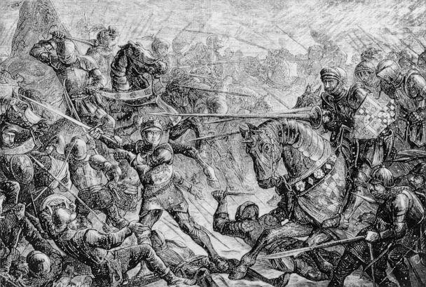 PHOTO: The Battle of Towton during the War of the Roses, 1461. (Hulton Archive/Getty Images)