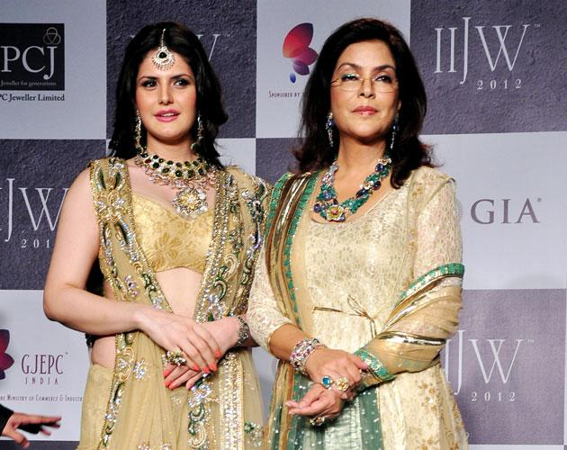 Zeenat Aman with Zarine Khan
