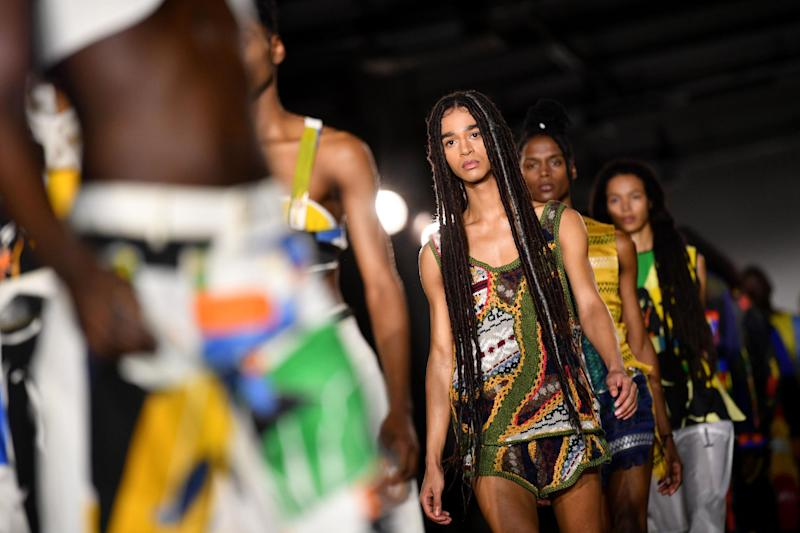 Bethany Williams' show on the first day of the Autumn/Winter 2020 London Fashion Week Men's: Getty Images