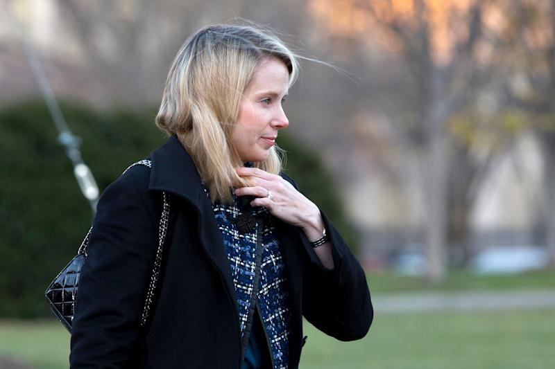 Yahoo Inc. CEO Marissa Mayer arrives at the White House to attend a meeting of business leaders with President Barack Obama and Vice President Biden at the White House in Washington, Wednesday, Nov. 28, 2012. (AP Photo/Jacquelyn Martin)