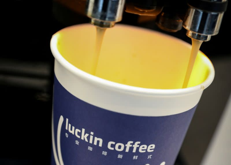 Luckin Coffee shares crash on delisting risk