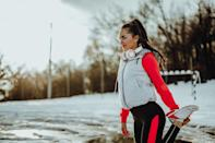 "<p>This isn't the time to pile on every sweatshirt you own. As your body warms up on your run, you won't need as much insulation, Graman explained. If you're overdressed, you could get too warm and begin to perspire.</p> <p>""Sweat is your enemy when running in the cold,"" Graman said. Wet clothes in cold temperatures cause your body to lose heat more quickly, which <a href=""https://www.mayoclinic.org/diseases-conditions/hypothermia/symptoms-causes/syc-20352682"" class=""link rapid-noclick-resp"" rel=""nofollow noopener"" target=""_blank"" data-ylk=""slk:puts you at greater risk for hypothermia"">puts you at greater risk for hypothermia</a>. He recommends dressing as if it's five to 10 degrees warmer outside to allow for a natural increase in body temperature.</p> <p>Both coaches also suggest wearing layers you can easily take off as your body warms up. (You should remove a layer at the first sign of sweat, Graman added.) Sexton recommends a long-sleeved <a href=""https://www.popsugar.com/fitness/under-armour-base-layers-for-cool-weather-running-47915032"" class=""link rapid-noclick-resp"" rel=""nofollow noopener"" target=""_blank"" data-ylk=""slk:base layer"">base layer</a> made from merino wool and an outer layer that zips up (for easy removal) made from a material that's wind- and water-resistant.</p>"