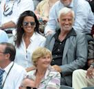 <p>With Barbara Gandolfi at the French Open, 2010</p>