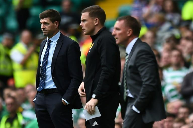 Steven Gerrard lost his first Old Firm derby clash with his old Liverpool manager Brendan Rodgers of Celtic
