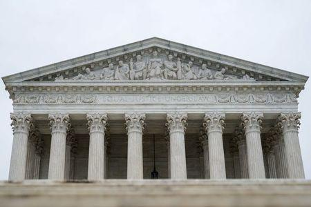 The U.S. Supreme Court is seen as the court nears the end of its term in Washington