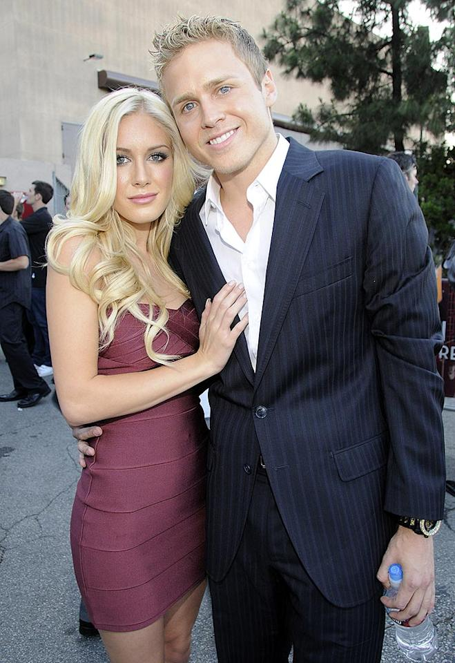 """The Hills"" stars Heidi Montag and Spencer Pratt wouldn't dare miss an MTV event. Afterall, if it weren't for the cable network they'd be nothing! Kevin Mazur/<a href=""http://www.wireimage.com"" target=""new"">WireImage.com</a> - June 1, 2008"