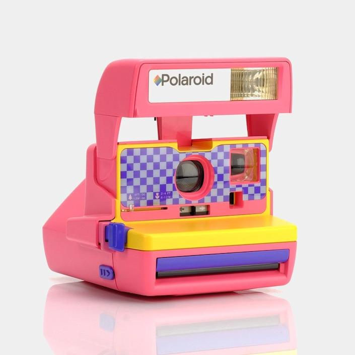 """<em>For the mom who likes to document everything:</em><h2>Vintage Polaroid</h2>If your mom, like so many of us, is embracing her inner craftiness while in quarantine, perhaps this throwback Polaroid will inspire her to document home life. All the better to scrapbook with. <br><br><br><br><strong>Polaroid</strong> Polaroid Pink Checkers 600 Camera, $, available at <a href=""""https://go.skimresources.com/?id=30283X879131&url=https%3A%2F%2Fretrospekt.com%2Fcollections%2Fpolaroid-cameras%2Fproducts%2Fpolaroid-pink-checkers-600-camera"""" rel=""""nofollow noopener"""" target=""""_blank"""" data-ylk=""""slk:Retrospekt"""" class=""""link rapid-noclick-resp"""">Retrospekt</a>"""