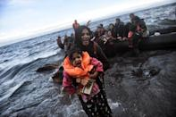 Turkey and the EU forged a deal in March 2016 to reduce the number of migrants crossing the Aegean Sea between Turkey and Greece (AFP Photo/Aris Messinis)