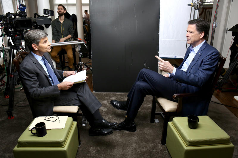 Former FBI Director James Comey gave a searing interview about his encounters with President Donald Trump to ABC News on Sunday