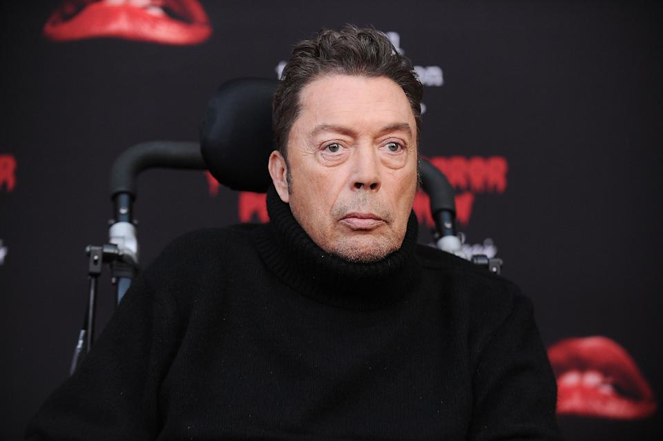 "Tim Curry attends the premiere of ""The Rocky Horror Picture Show: Let's Do The Time Warp Again"" on October 13, 2016. (Photo by Jason LaVeris/FilmMagic)"