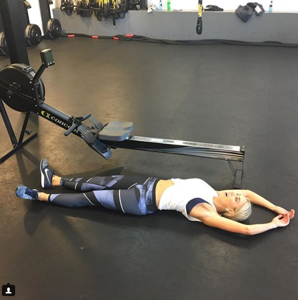 Roxy regularly completes gruelling workouts and has previously credited her figure to time in the gym. Source: Instagram
