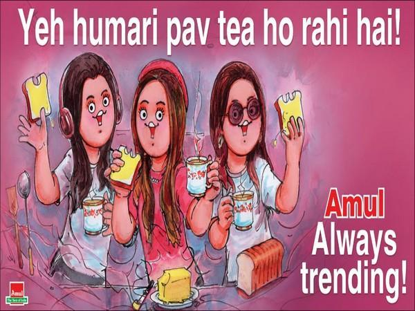 Doodle shared by Amul (Image courtesy: Twitter)