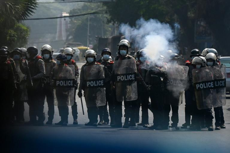 Myanmar authorities have gradually ramped up the use of force to disperse protests against the military coup