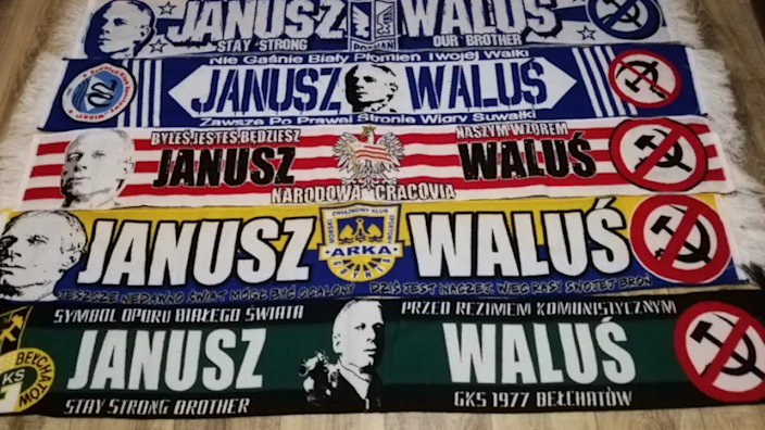 Scarves from several football clubs were among those removed from OLX