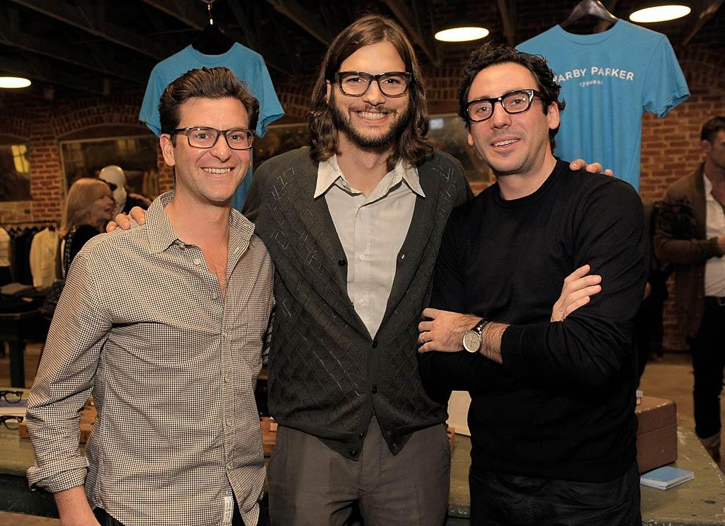 Ashton Kutcher was all smiles Tuesday night as he hosted a bash in honor of Warby Parker eyewear at Confederacy in L.A. Unfortunately, Wednesday was probably not as fun: <i>In Touch</i> reported that Ashton's wife Demi Moore cheated on him with his younger friend Ben Hollingsworth, 27. (11/1/2011)