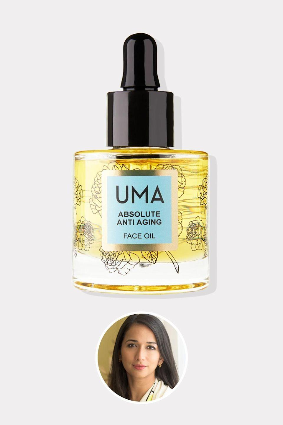 """<p><strong>Uma</strong></p><p>ssense.com</p><p><strong>$128.00</strong></p><p><a href=""""https://go.redirectingat.com?id=74968X1596630&url=https%3A%2F%2Fwww.ssense.com%2Fen-us%2Feverything-else%2Fproduct%2Fuma%2Fabsolute-anti-aging-face-oil-1-oz%2F6665401&sref=https%3A%2F%2Fwww.oprahdaily.com%2Fbeauty%2Fskin-makeup%2Fg36454382%2Fasian-beauty-brands%2F"""" rel=""""nofollow noopener"""" target=""""_blank"""" data-ylk=""""slk:Shop Now"""" class=""""link rapid-noclick-resp"""">Shop Now</a></p><p>After moving to Beverly Hills from India, Uma founder Shrankhla Holecek became determined to reclaim the traditional Ayurvedic practices that she felt had been misappropriated. Holecek uses only the best, infusing Uma's formulas with precious botanical extracts from the brand's own 100-acre farm. The result: Products like this incredibly luxurious face oil. A base of nutrient-rich pomegranate oil plays host to frankinsense, sandalwood, and juniper berry oils to reduce the visible signs of aging and lock in hydration. </p>"""